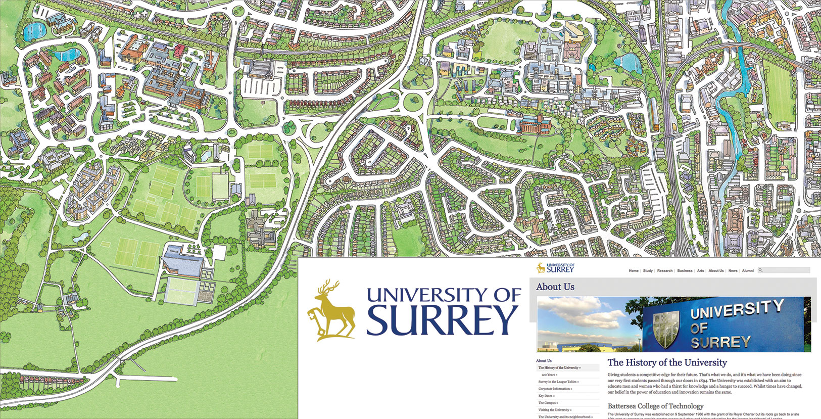 Surrey University Map Map Services Surrey University Map